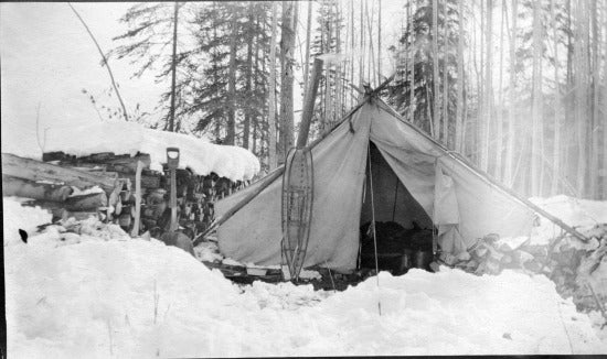 Wall Tent in Winter, c1913.