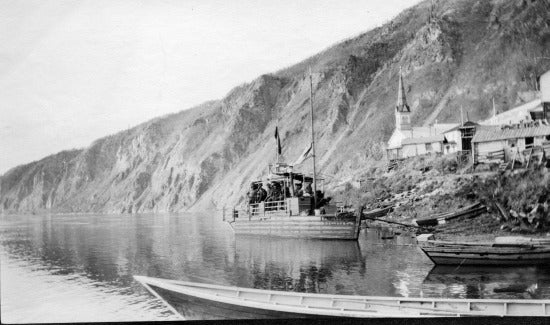 Large Scow at Dawson Waterfront, c1913.