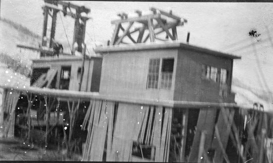 Damaged Dredge, c1913.