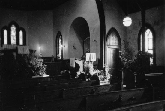 Interior St. Paul's Anglican Church, c1935.