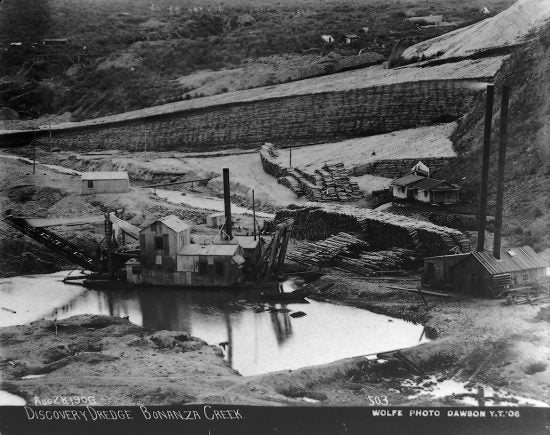 Discovery Dredge Bonanza Creek, August 28, 1906.