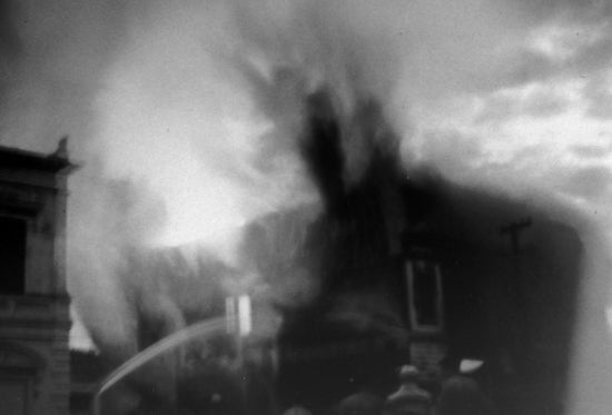 Old Dawson City Museum burns, June 5, 1960