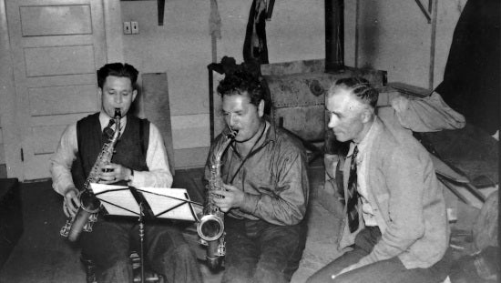 Playing the Saxaphones, c1939.