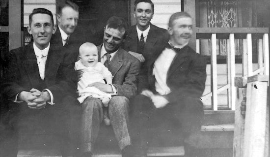 Group Portrait with Buck Sundell, Douglas and John Ferry and Friends, May 18, 1910.