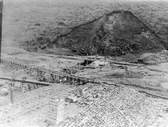 Bonanza Dam Under Construction, c1906.