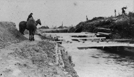 Main Ditch Drop, 12 Mile Face, c1908.