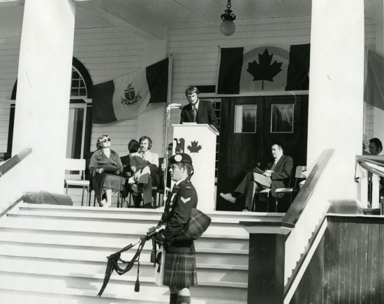 Plaque Ceremony, Commissioner's Residence, 1975.