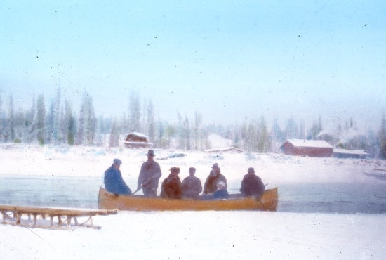 Travelling by Canoe, c1940.