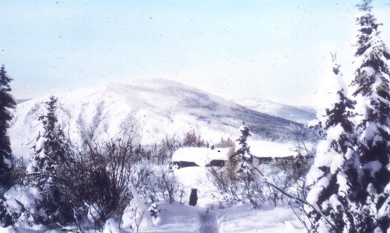 Snow Covered Cabin, n.d.