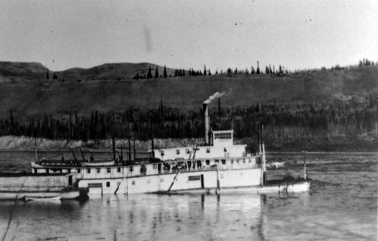 The Sinking of the SS Dawson at Rink Rapids, October 13, 1926.