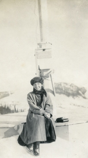 Margaret McCarter on the Dome, c1920.
