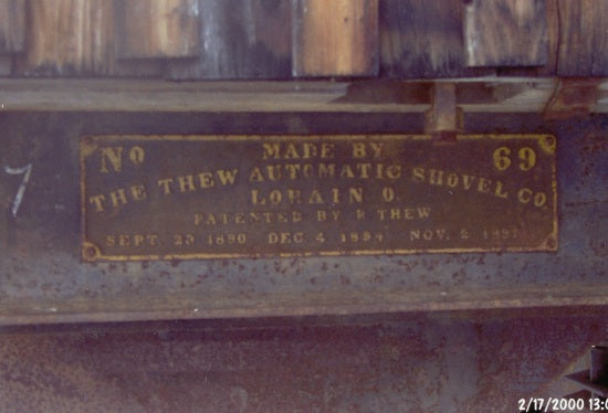 Steam Shovel Manufacturing Plaque, February 17, 2000.