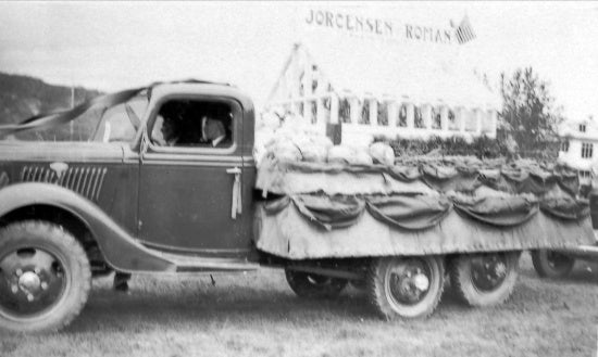 Discovery Day Parade Float, c1930.
