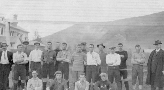 Football Team, Dawson City, c1920