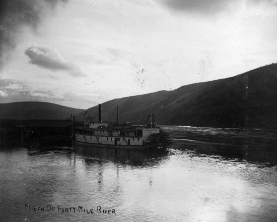 Sternwheeler at th Mouth of Forty-Mile River, c1901.