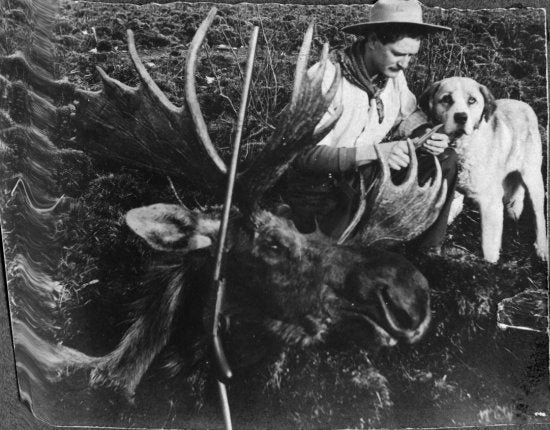 Man with Moose Head, c1901.