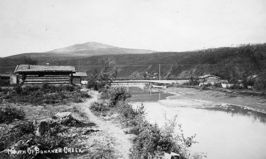 The Mouth of Bonanza Creek, c1900.