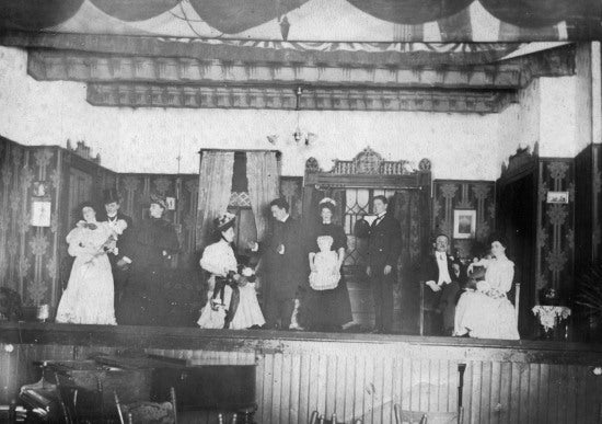 Cast of a Play, c1901.