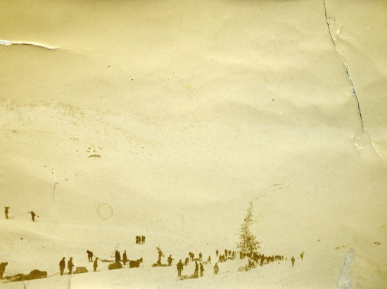 Base of the Golden Staircase, Chilkoot Pass, c1898.
