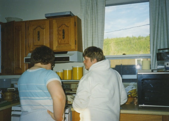 Kathy Gates and Mae Gudmundson, June 1989.