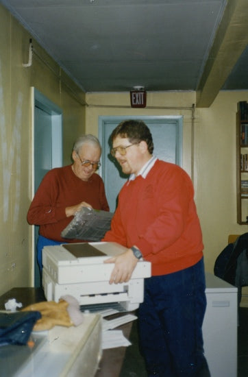 Unpacking the New Photocopier, November 1989.