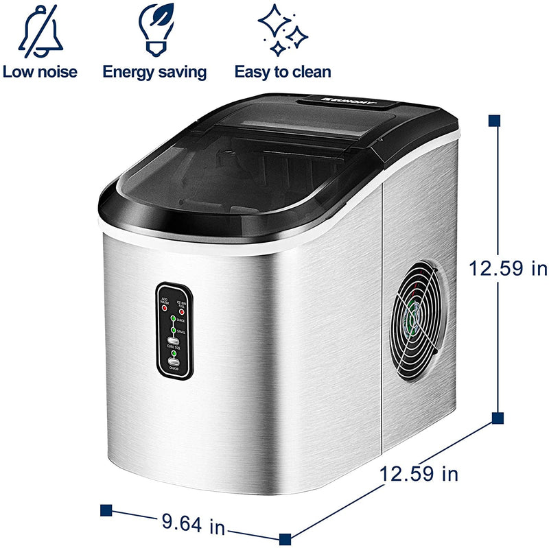 Euhomy Countertop Ice Maker 26 Lbs/day