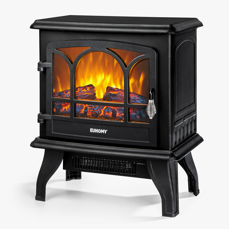 "Euhomy Electric Fireplace Heater 20"" Black"