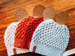 Front Porch Crochet Messy Bun Hat - The Gregarious Goose