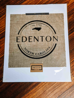 Ink & Co Made In Ohio Custom Edenton Burlap - The Gregarious Goose