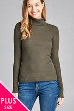 Load image into Gallery viewer, Plus size long sleeve sweater top