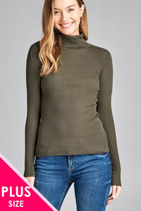 Plus size long sleeve sweater top