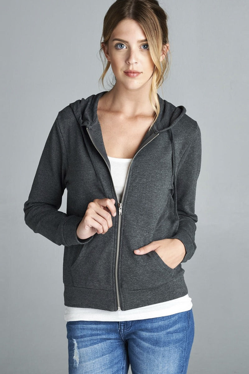 Long Sleeve Zipper French Terry Jacket