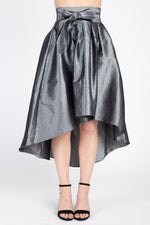 Load image into Gallery viewer, Taffeta High-low Skirt