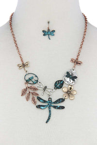 Dragonfly Bib Necklace