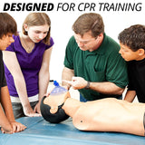 CPR Assistant CPR Training Valves with Filter Barrier for Resuscitation Rescue Masks with Free AED Training Pads (50 Pack)