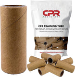 CPR Assistant CPR Paper Tube Practice Valves for Resuscitation Rescue Masks (50 Pack)