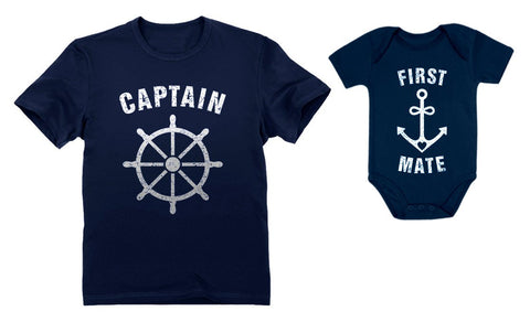 Buy the Captain & First Mate Matching Father & Baby Set - Baby and You