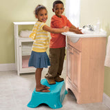 Step Stool and Bathtub - Blue/White/Green