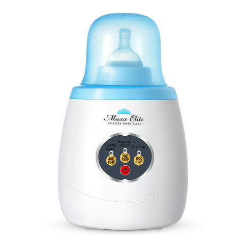 Buy the Top Rated Blue 3-in-1 Baby Bottle Warmer - Baby and You