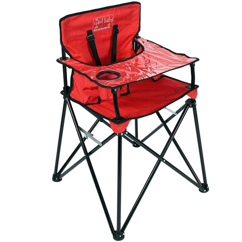 Buy the Red Colored Portable Foldable Baby High Chair