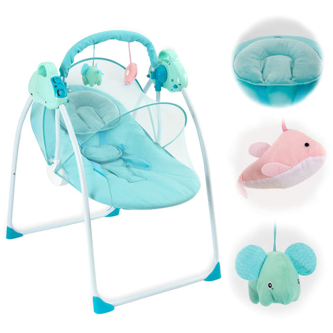 Buy the Best Blue Portable Baby Swing
