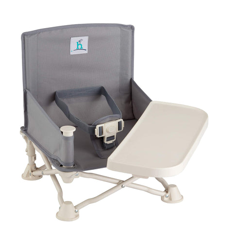 Buy the Slate Gray Baby Travel Booster Seat With Tray