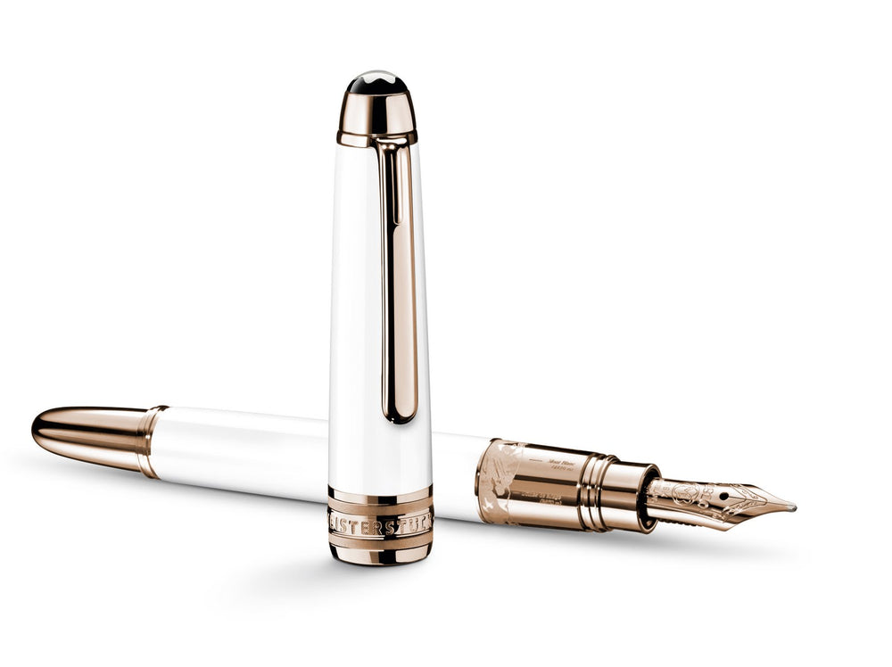 Meisterstuck Solitaire Doue_ - Gold & White - Fountain Pen 1144 Classique, Medium