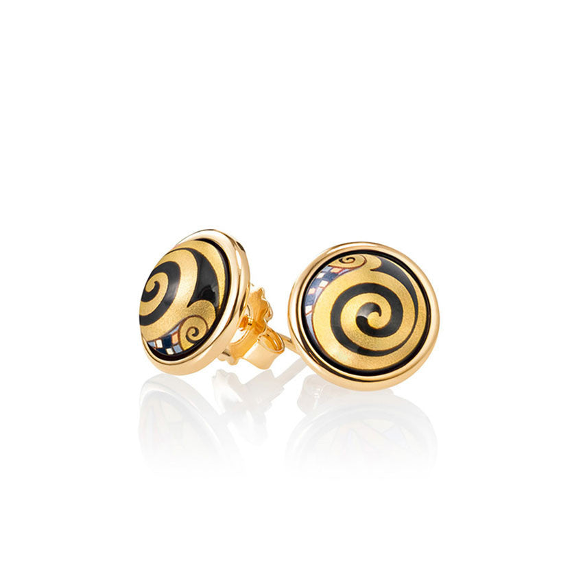 Cabochon Earrings, Gustave Klimt, Adele Bauer