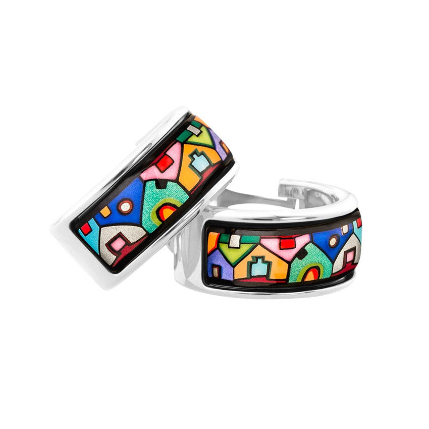 Earrings, Hundertwasser, Street River