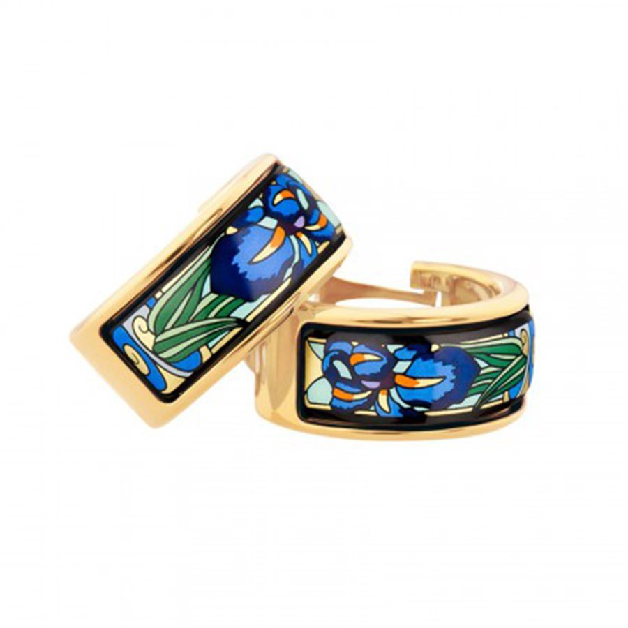 Mini-Creole Earrings, Claude Monet,  Iris