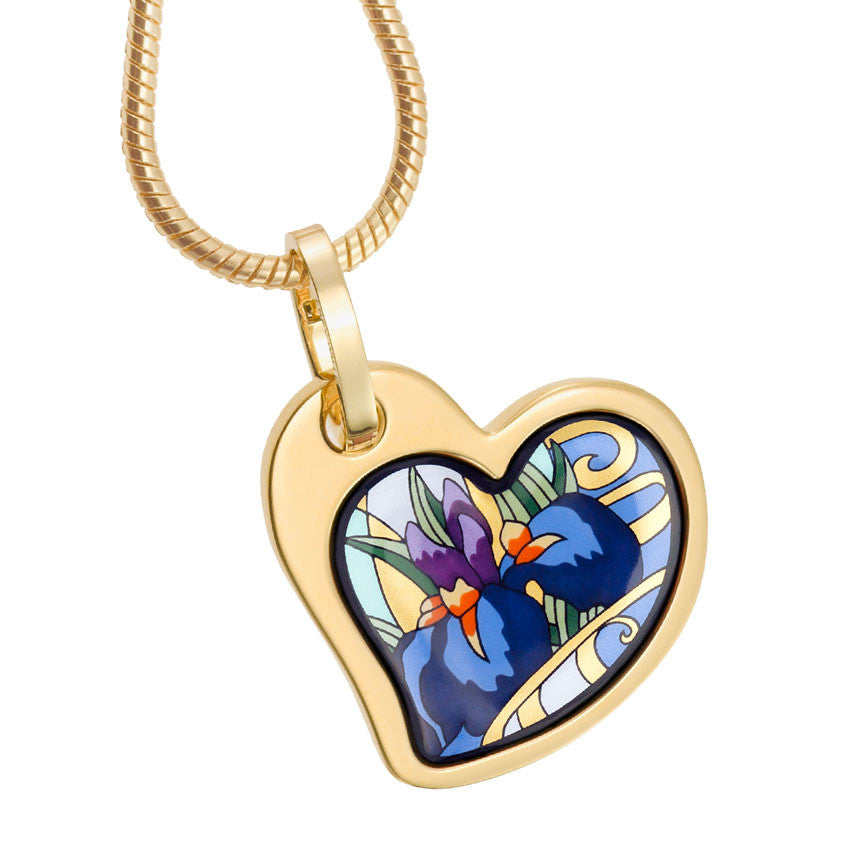 Heart Pendant,  Claude Monet,  Iris
