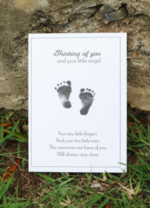nfant Loss Sympathy Card - Tiny Toes