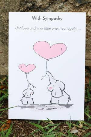 Infant Sympathy Greeting Card - Elephants