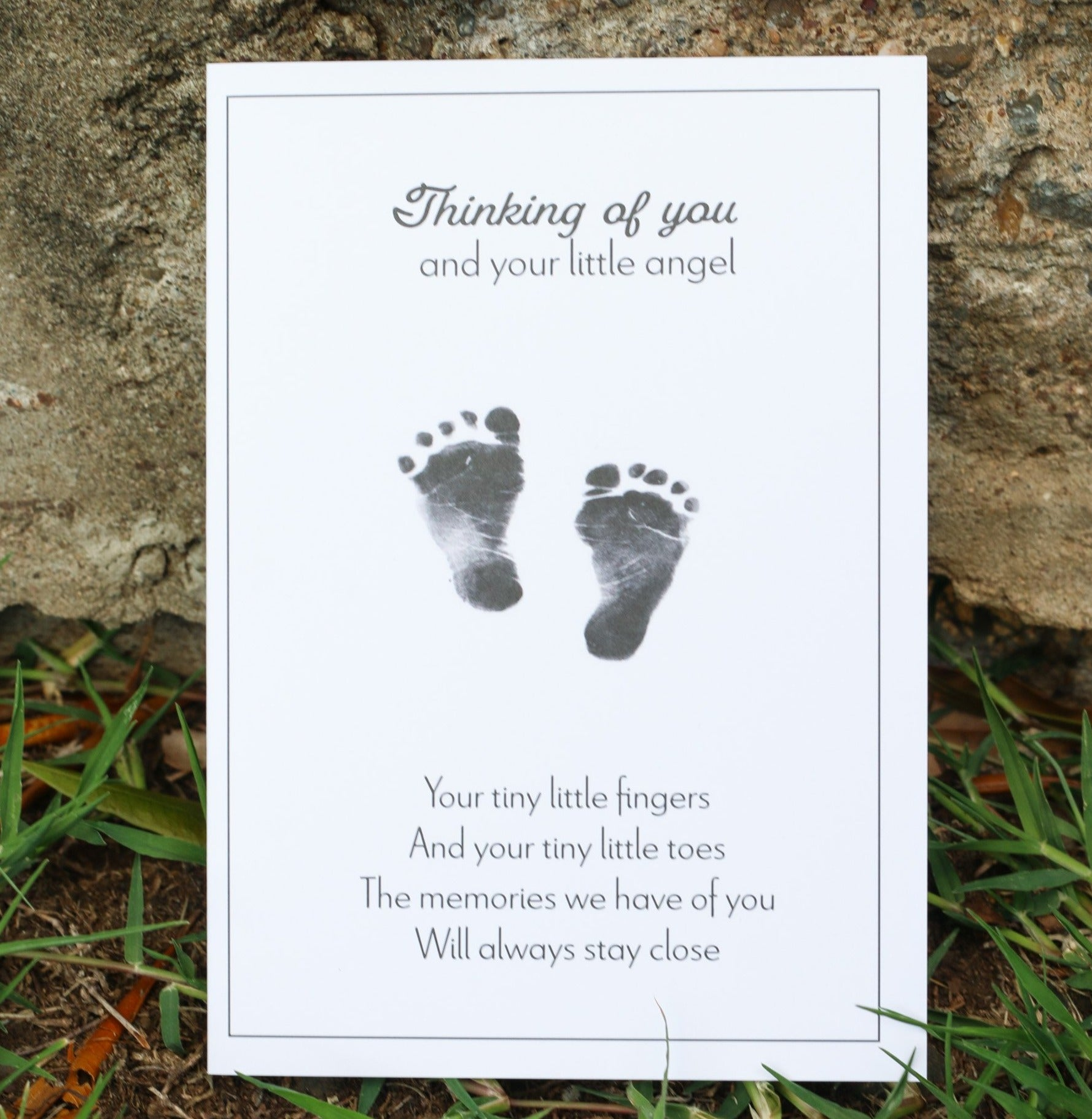 Infant Loss Sympathy Card - Tiny Toes